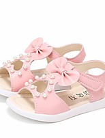 cheap -Girls' Shoes Faux Leather Summer Comfort Sandals for White / Fuchsia / Pink