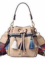 cheap -Women's Bags PU(Polyurethane) Tote Tassel Black / Brown / Khaki