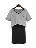 cheap -Women's Basic Set - Solid Colored Skirt