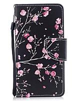 Недорогие -Кейс для Назначение Huawei P9 Кошелек / Бумажник для карт / Флип Чехол Цветы Твердый Кожа PU для Huawei P9