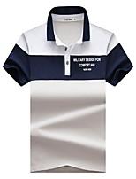 cheap -Men's Basic Polo - Striped / Letter
