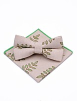 cheap -Unisex Party / Basic Bow Tie - Print Tropical Leaf, Bow