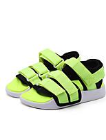 Недорогие -Девочки Обувь Полотно Лето Удобная обувь Сандалии для Зеленый / Синий / Розовый