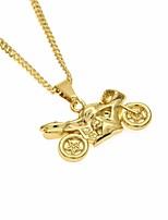 preiswerte -Herrn Stilvoll / Lang Anhängerketten - Moto Modisch, Beiläufig / sportlich Gold 60 cm Modische Halsketten 1pc Für Strasse, Ausgehen