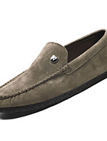 cheap -Men's Moccasin Pigskin Fall Loafers & Slip-Ons Gray / Brown / Khaki