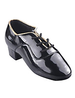 cheap -Boys' Latin Shoes Patent Leather Heel Thick Heel Dance Shoes Black / Gold