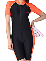 cheap -Women's Rash Guard Dive Skin Suit UV Sun Protection, Quick Dry, Breathable Chinlon / Elastane Short Sleeve Swimwear Beach Wear Bodysuit Swimming / Snorkeling / Water Sports