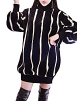 preiswerte -Damen Street Schick Strickware Kleid Gestreift Mini