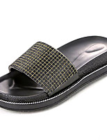 cheap -Women's Shoes PU(Polyurethane) Summer Comfort Slippers & Flip-Flops Creepers Round Toe Silver / Yellow