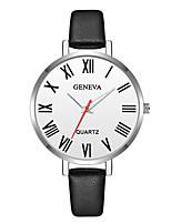 economico -Geneva Per donna Orologio da polso Cinese Nuovo design / Orologio casual / Fantastico Pelle Banda Casual / Di tendenza Nero / Marrone