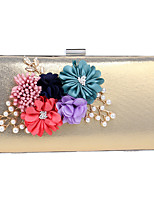 cheap -Women's Bags Polyester / Alloy Evening Bag Flower Black / Red / Silver