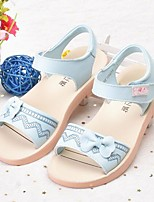cheap -Girls' Shoes Cowhide Spring & Summer Comfort Sandals Bowknot for Kids White / Blue / Pink