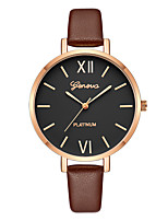 cheap -Geneva Women's Dress Watch / Wrist Watch Chinese New Design / Casual Watch / Cool Leather Band Casual / Fashion Brown