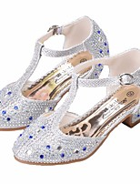 cheap -Girls' Shoes PU(Polyurethane) Spring / Fall Flower Girl Shoes / Tiny Heels for Teens Heels for Gold / Silver / Pink