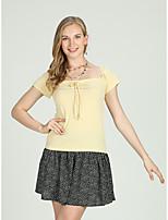 Недорогие -Жен. Шнуровка Рубашка Активный / Классический Полоски