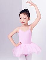 abordables -Ballet Vestidos Chica Entrenamiento / Rendimiento Algodón Encaje / Combinación Sin Mangas Cintura Media Vestido