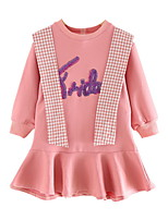 cheap -Toddler Girls' Letter Long Sleeve Dress