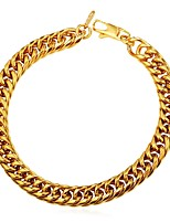 cheap -Men's Thick Chain Chain Bracelet - Stainless Steel Creative Fashion Bracelet Gold / Black / Silver For Gift / Daily
