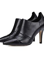 Недорогие -Жен. Обувь Наппа Leather Весна лето Удобная обувь Обувь на каблуках На шпильке Черный / Красный