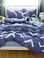 preiswerte -Bettbezug-Sets Geometrisch Polyester Reaktivdruck 4 Stück