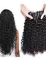 Недорогие -3 Связки Малазийские волосы Кудрявый Натуральные волосы Человека ткет Волосы / One Pack Solution / Накладки из натуральных волос 8-28 дюймовый Ткет человеческих волос
