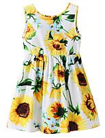 cheap -Toddler Girls' Sun Flower Floral Sleeveless Dress