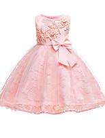 Недорогие -Дети / Дети (1-4 лет) Девочки Однотонный Без рукавов Платье