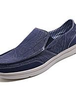 abordables -Hombre Tela / PU Primavera Confort Zapatos de taco bajo y Slip-On Negro / Gris / Azul