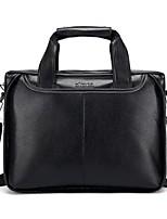 cheap -Men's Bags PU(Polyurethane) Tote Zipper Black / Brown