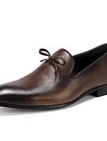 cheap -Men's Formal Shoes Nappa Leather Spring Comfort Loafers & Slip-Ons Black / Coffee