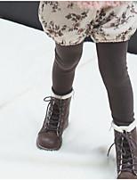 baratos -Infantil Para Meninas Poá / Floral Leggings