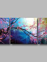 abordables -Pintura al óleo pintada a colgar Pintada a mano - Paisaje / Floral / Botánico Contemporáneo Lona
