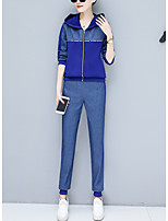 cheap -Women's Hoodie - Solid Colored Pant