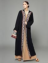abordables -Abaya Femme - Couleur Pleine / Créatif / Broderie crewel Bohème / Sophistiqué énorme / Mosaïque
