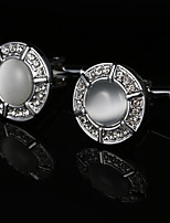 cheap -Geometric Silver Cufflinks Copper / Alloy Metallic / Fashion Men's Costume Jewelry For Wedding / Gift