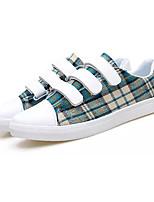 Недорогие -Муж. Полотно Осень Удобная обувь Кеды Коричневый / Красный / Зеленый