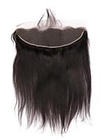 Недорогие -CARA Естественные кудри 4X13 Закрытие Прямой Бесплатный Часть Французское кружево Натуральные волосы Жен.