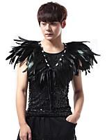 cheap -Jazz Tops Men's Performance Poly&Cotton Blend Feathers / Fur Sleeveless Vest