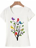 abordables -Tee-shirt Femme, Fleur / Animal Imprimé Basique