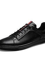 cheap -Men's Comfort Shoes Nappa Leather Spring Sneakers White / Black / Blue