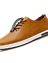 cheap -Men's Cowhide Spring Comfort Sneakers White / Black / Brown