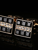 cheap -Geometric Golden Cufflinks Copper / Alloy Basic / Fashion Men's Costume Jewelry For Party / Gift