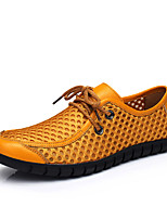 cheap -Men's Mesh / PU(Polyurethane) Summer Comfort Sneakers Dark Blue / Yellow / Brown