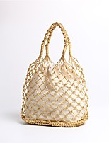 cheap -Women's Bags Canvas Tote Hollow-out Gold / Silver