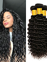 cheap -4 Bundles Indian Hair Deep Wave Unprocessed Human Hair / Human Hair Natural Color Hair Weaves / Tea Party Favors / Afro Kinky Braids 8-28 inch Human Hair Weaves Gift / Thick / For Black Women Natural