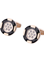 cheap -Geometric Golden Cufflinks Copper Classic / Basic Men's Costume Jewelry For Party / Gift