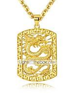 preiswerte -Herrn Vintage Stil Halskette / Charm Halskette - vergoldet Stilvoll, Asiatisch, Luxus Gold 50 cm Modische Halsketten 1pc Für Hochzeit, Party / Abend