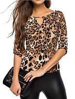 Недорогие -женская футболка - леопард с шеей