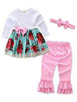 cheap -Baby Girls' Floral / Print Long Sleeve Clothing Set