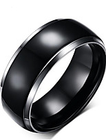 cheap -Men's Vintage Style Band Ring - Titanium Steel Creative Unique Design, Classic 8 / 9 Black For Daily / Work